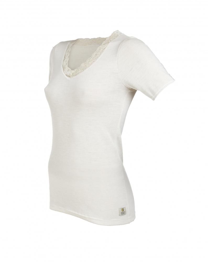 73594abf T-skjorte Ull de Luxe, Janus i 100% myk merinoull - Ametrine